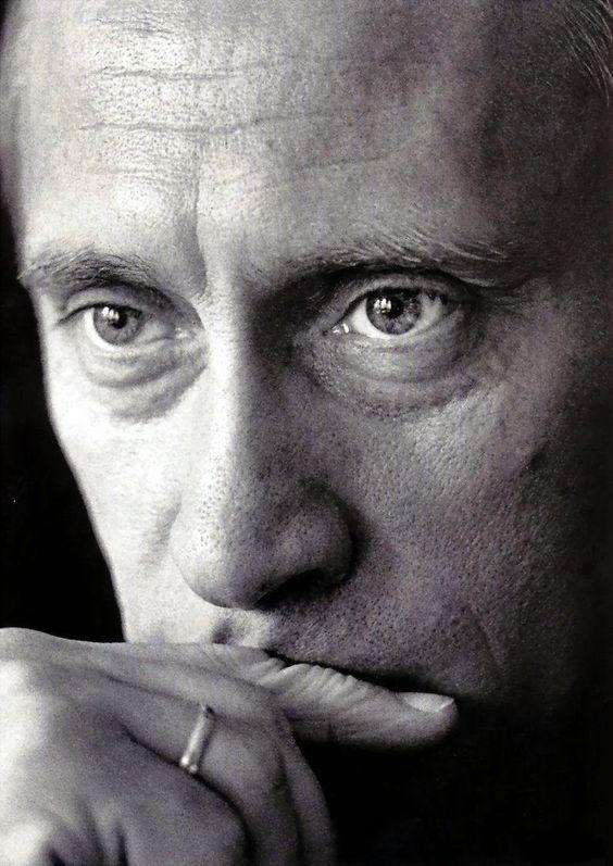 *President Vladimir Putin* in a lovely black & white photograph: