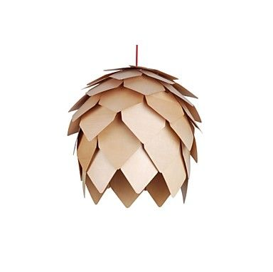 Design Style Pinecone Feature L 220V LED Warm Wooden Pendant Light 2015 – €83.37
