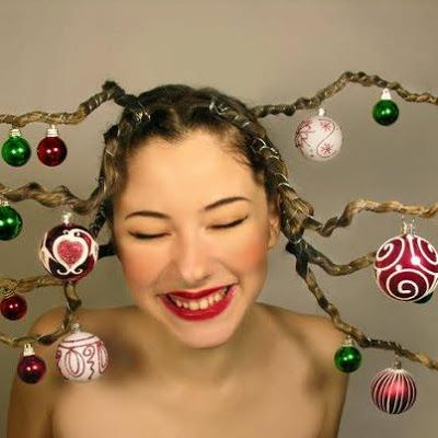 Crazy Christmas Hairstyles for Girls: