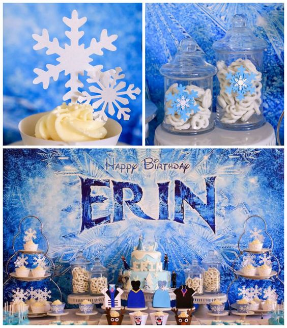 Frozen Birthday Banner Printable Frozen Banner Party By: Frozen Themed 7th Birthday Party Via Kara's Party Ideas