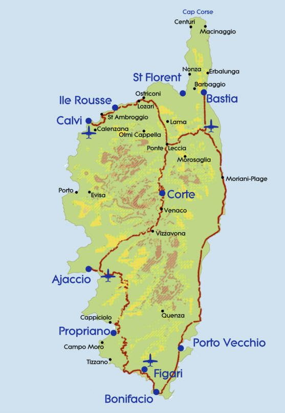 Souvent Map of #Corsica | Maps, the beauty of old maps | Pinterest  YT38