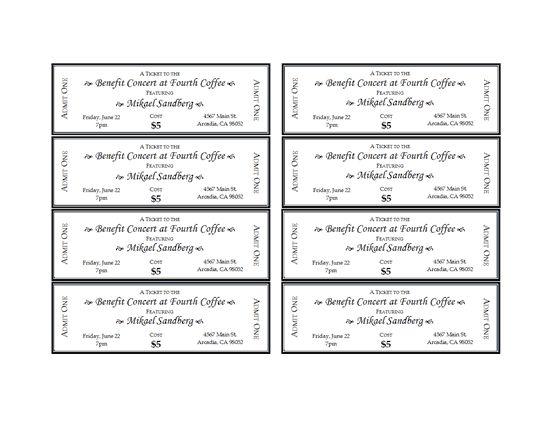 Pin de 8pro en Moise Gonzálezz Pinterest - dinner tickets template