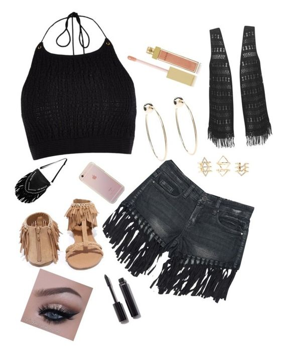 """""""Broken"""" by trinsanity ❤ liked on Polyvore featuring River Island, Sans Souci, Qupid, Bebe, Charlotte Russe, AERIN and Chanel"""