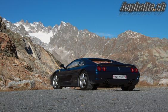 A picture speaks louder than words! Gorgeous Ferrari 355 against the stunning landscape around the Susten Pass! Taken on the old Sustenstrasse on a stunning Autumn day!