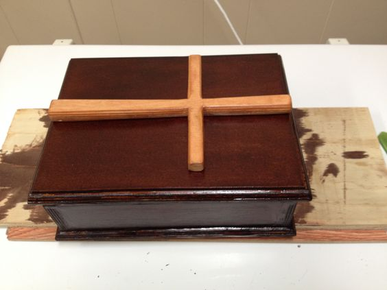 Bible box i made for a friend .