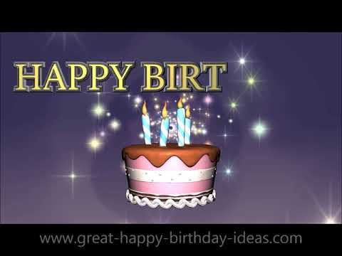 Excellent Best Free Animated Happy Birthday Cards With Music Youtube Personalised Birthday Cards Rectzonderlifede