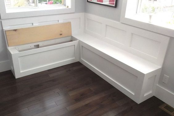 storage bench seating kitchen diy pinterest