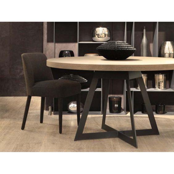 Table de salle manger baron ronde tables de salle a manger design table - Recherche table de salle a manger ...