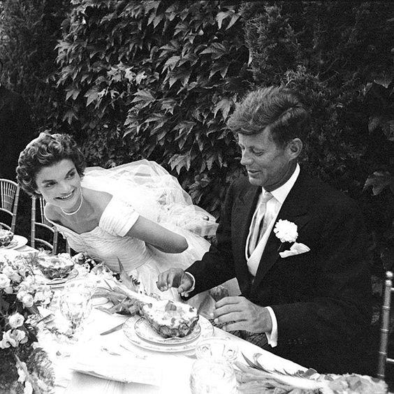 Jacqueline Bouvier  marries John F. Kennedy on September 12, 1953