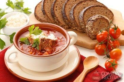 Receita de Sopa borscht em receitas de sopas e caldos, veja essa e outras receitas aqui!