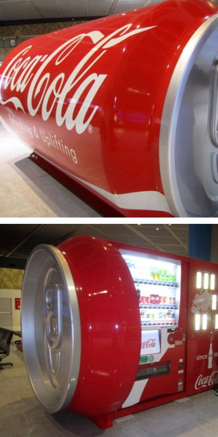 Coca-Cola - giant vending machine shaped like a 12oz can of coke on its side