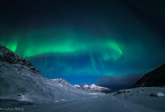 Auroras boreales desde Tromsø, Noruega. 9 de diciembre de 2014 Crédito: Kristin Berg