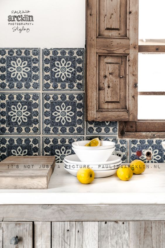 KITCHEN | <3 Tile Pattern | Old Wood | Rustic Style