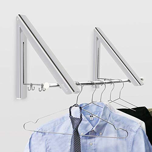 Becko Wall Mounted Clothes Hanger Aluminum Folding Drying Https Www Amazon Com Dp B077tkx7rn Ref Cm Sw R Folding Clothes Rack Clothes Hanger Folding Walls