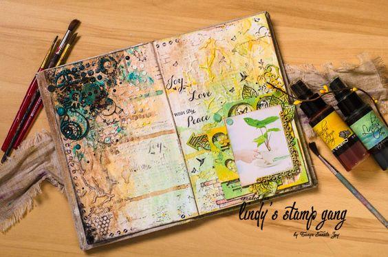 http://blog.lindystampgang.com/2015/02/23/peace-joy-love-art-journal-by-tanya-sonata-joy/