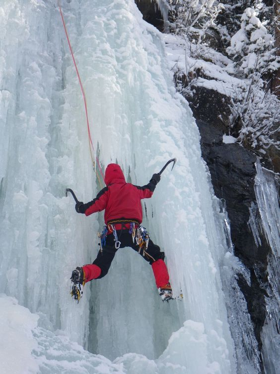 Ice Climber >> Do you do this? I never have and I am pretty sure I won't but I bet it's amazing!