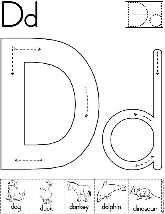 Alphabet Letter D Worksheet | Preschool Printable Activity ...