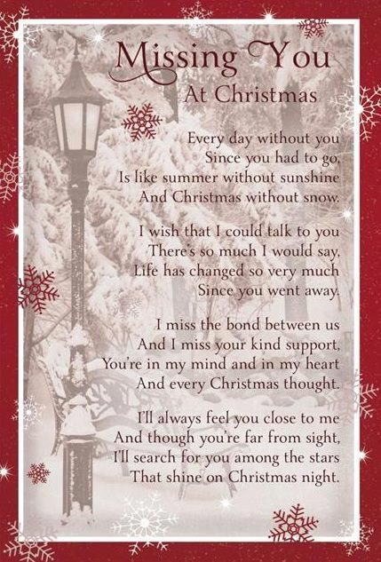 First Christmas Without Loved One Poem