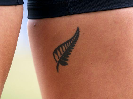 tattoo side fern tattoo and the o 39 jays on pinterest. Black Bedroom Furniture Sets. Home Design Ideas