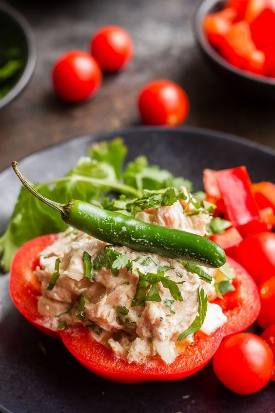 Spicy Tuna #Salad with Bell Peppers — #Food #Recipe