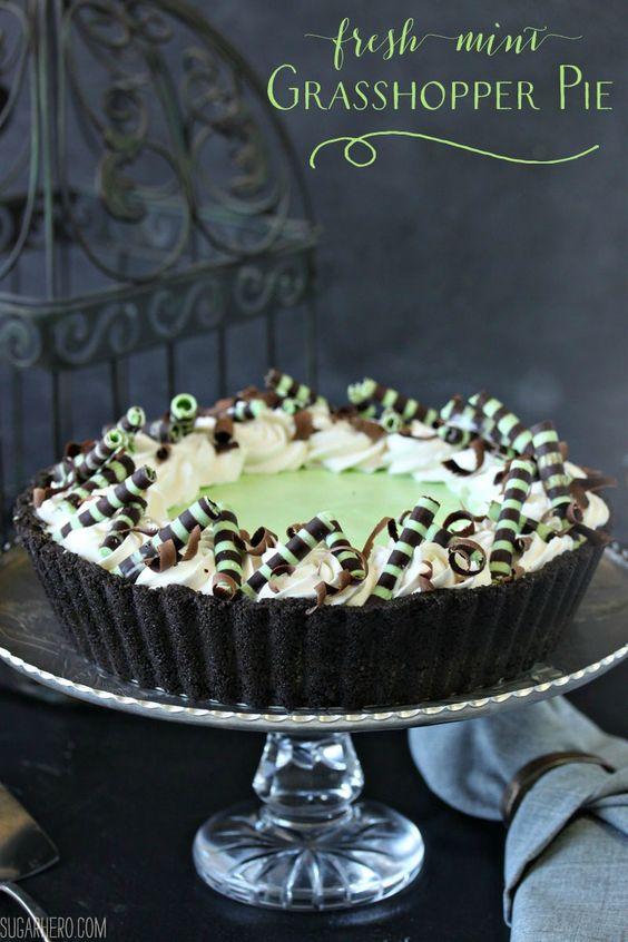 Grasshopper pie, Grasshoppers and Mint on Pinterest