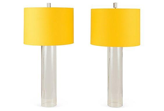 Cylinder Table Lamps, Pair on OneKingsLane.com
