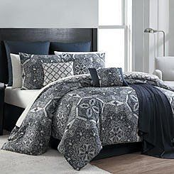 16 Piece Complete Comforter Bedding Set Bed in a Bag Only 10 In Stock Order Today! Product Description: Turn your bed into a fab focal point with an Essential Home 16-Piece Taupe Medallion Comforter S
