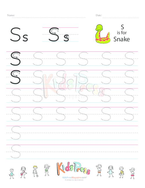 Number Names Worksheets s handwriting sheet : Handwriting Worksheet Letter S | Handwriting Worksheets ...