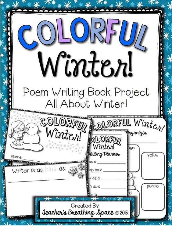 poetry booklet template - winter poem writing colorful winter poetry writing
