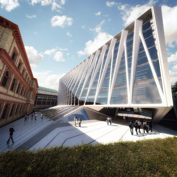 UNIVERSITY OF APPLIED ARTS EXTENSION  Zaha's competition entry