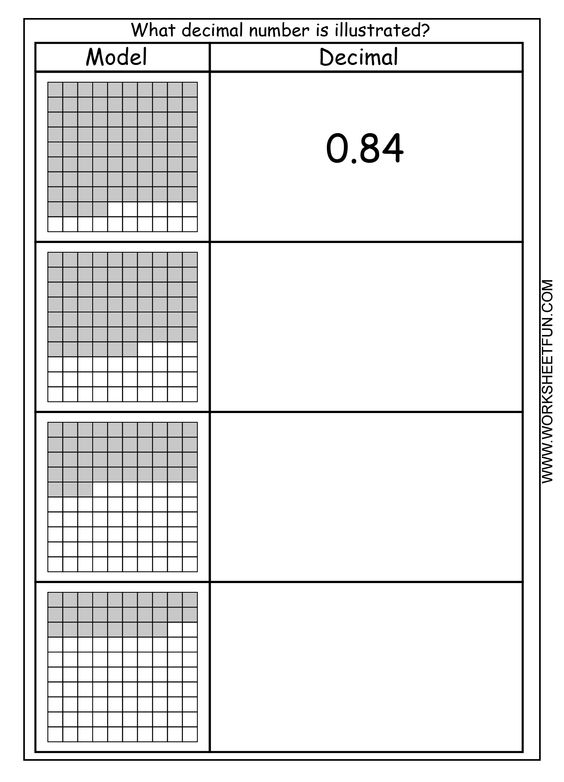 Model - decimal | Printable Worksheets | Pinterest | Models ...