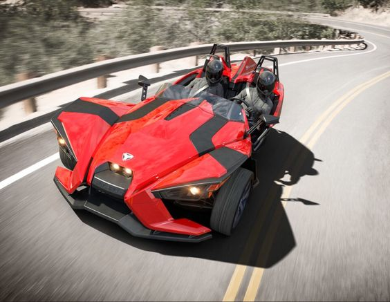#polaris #slingshot #2.4L #DOHC #EcotecEngine 9.8 gal fuel tank 5 speed manual transmission  short header 173 HP 166 ft-lbs Dry weight  1684 lbs.