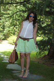 DIY Ropa: Cómo hacer falda de encaje.