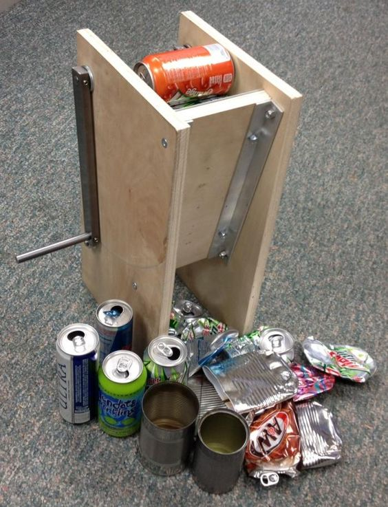 Diy Can Crusher Homemade Can Crusher Plans Can U C It