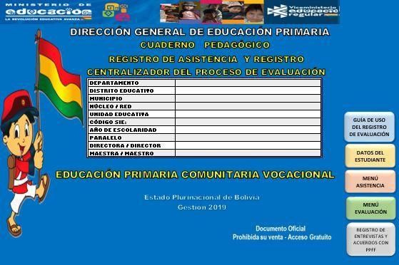 Cuaderno Pedagógico Registro De Asistencia Y Centralizador Del Proceso De Evaluación De Educación Primari Educacion Primaria Ministerio De Educacion Educacion
