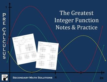 Printables Greatest Integer Function Worksheet greatest integer function worksheet davezan pinterest the world 39 s catalog of ideas functions worksheet