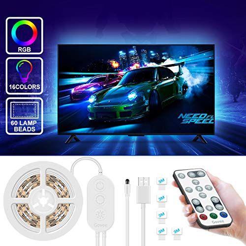USB Power LED Strip Lights 5050 RGB TV Backlight Lighting Remote Control New UK
