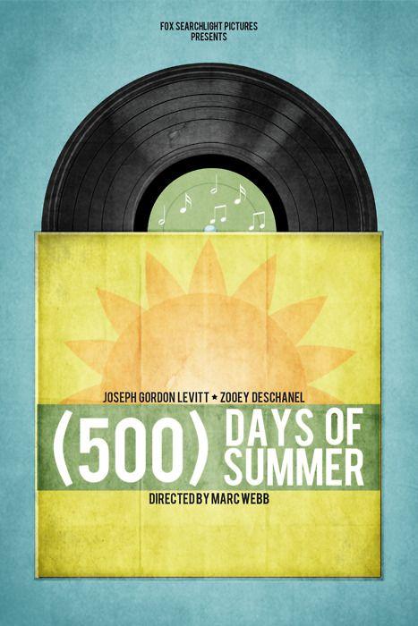 500 Days of Summer: Movies To Watch, Brock Weaver, 500Daysofsummer Zooeydeschanel, Minimalist Movie Posters, Favorite Movies, 500 Days, Minimalist Poster, Minimal Movie Posters