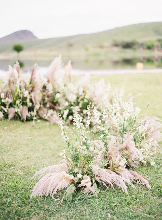 Wedding ceremony arch | Rustic Romance wedding in Texas