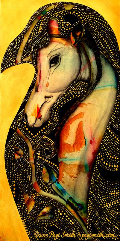 Gentle Grace  18″ x 36″ Acrylic on canvas by Pegi Smith.  Original painting and prints available at pegismith.com: