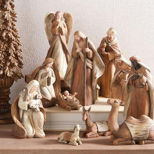 Nativity Set 11 Pieces Raz Imports At Shelley B Home And Holiday Com Nativity Set Christmas Nativity Scene Christmas Nativity Set