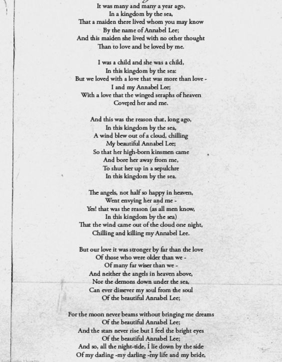 Annabel Lee - Poem by Edgar Allan Poe