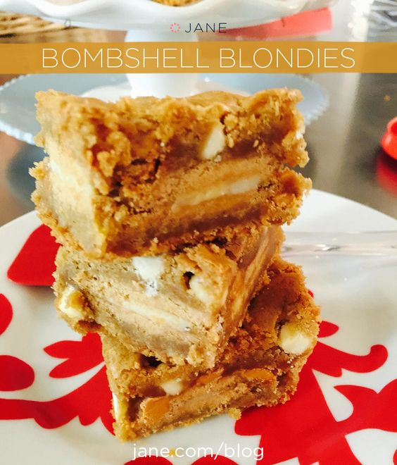 RECIPE: Bombshell Blondie Brownies ~ on the #VeryJane Blog