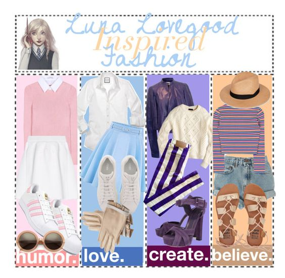 """""""Luna Lovegood Inspired Fashion"""" by secrets-kisses-lies-xo ❤ liked on Polyvore featuring adidas, Altuzarra, malo, WithChic, Fendi, Hermès, Wildfox, Vionnet, J.Crew and House of Holland"""