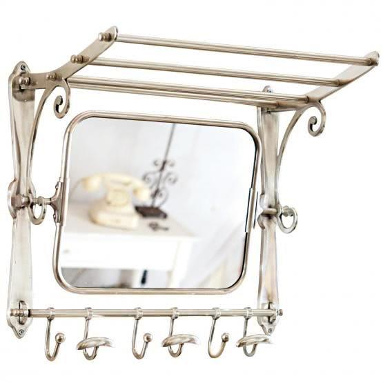Garderobe Ernestine Loberon Hutablage Spiegelglas Und Wandgarderobe