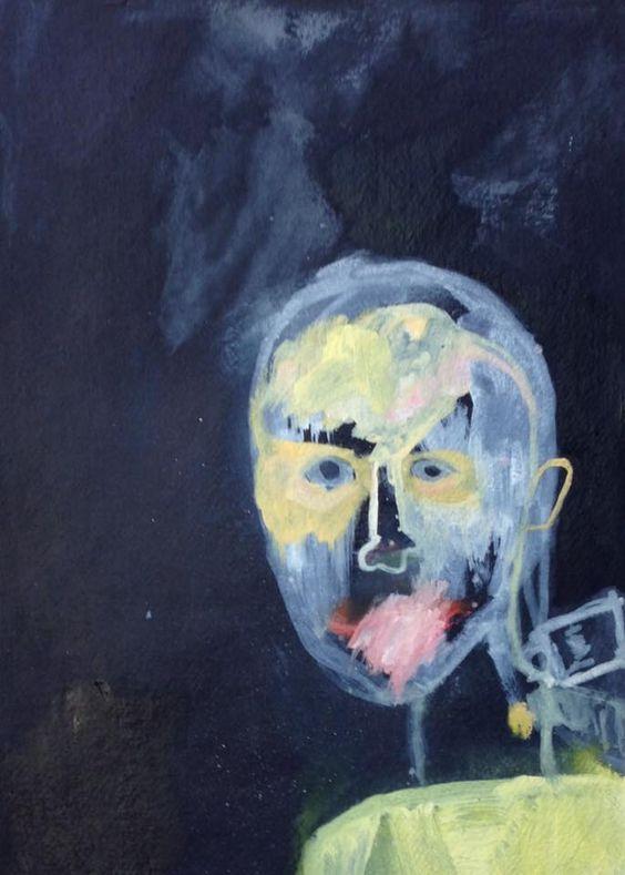Metamorphosis 1 (study) - Oil on paper - Arash Chehelnabi (artist)