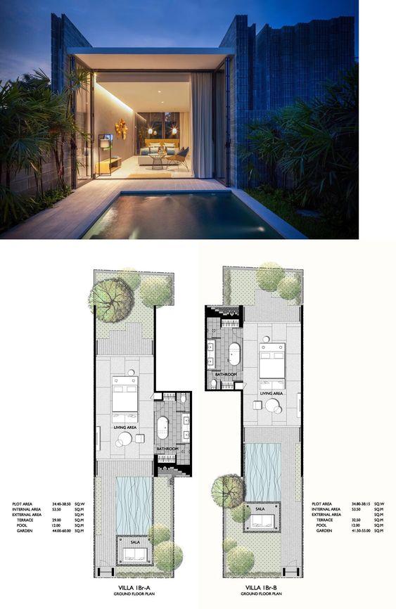 X2 Pattaya Oceanphere One Bedroom Luxury Private Pool Villa 150 Sqm Small Villa Villa Design Resort Design Plan