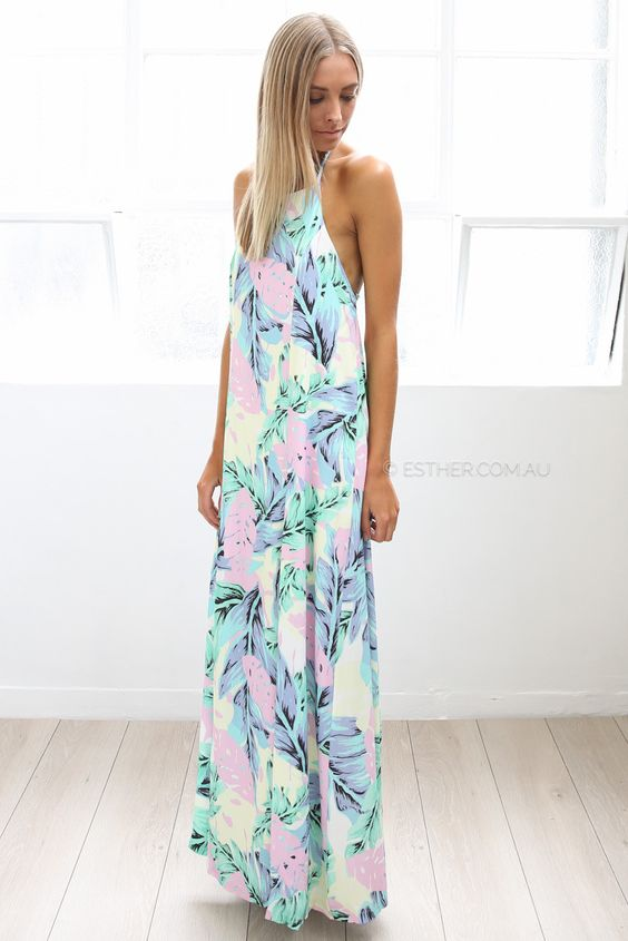 isla malibu maxi - multi | Esther clothing Australia and America USA, boutique online ladies fashion store, shop global womens wear worldwide, designer womenswear, prom dresses, skirts, jackets, leggings, tights, leather shoes, accessories, free shipping world wide. – Esther Boutique