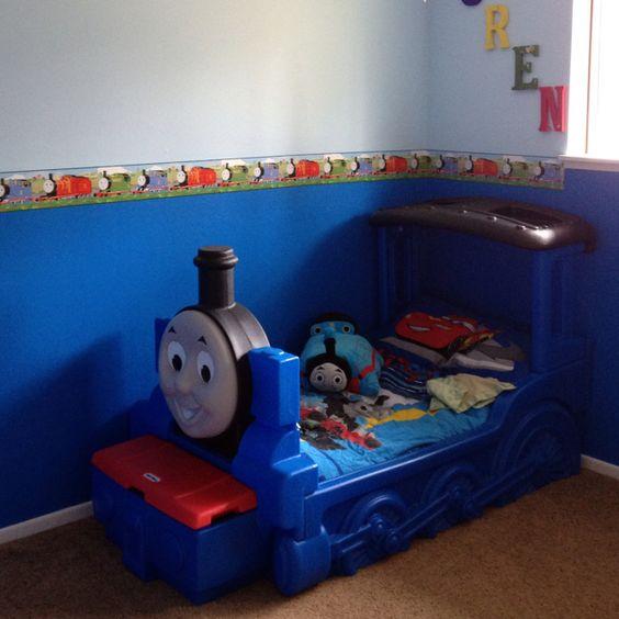 Thomas The Train Bedroom Ideas #19: Thomas The Train Room.....border. Colors.