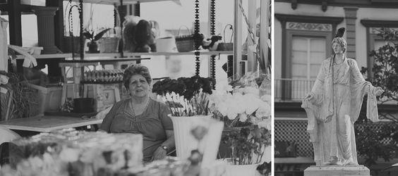 La plaza de las flores de Cádiz